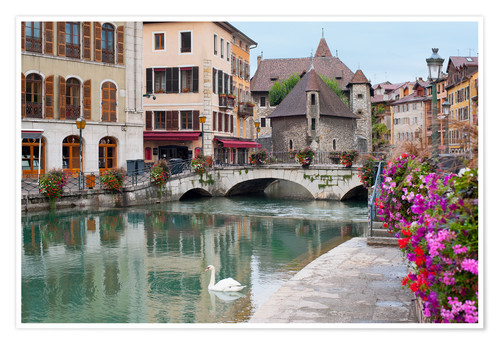 Póster Wonderful view of Annecy
