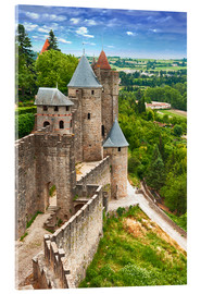 Cuadro de metacrilato  Fortress Carcassonne in France, Languedoc