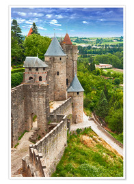 Póster  Fortress Carcassonne in France, Languedoc