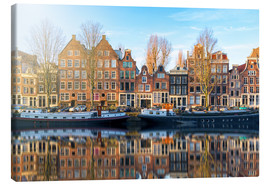 Lienzo  Amsterdam morning reflections - George Pachantouris
