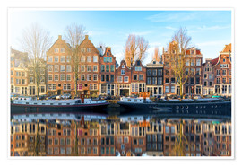 Póster  Amsterdam morning reflections - George Pachantouris