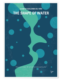 Póster No902 My The Shape of Water minimal movie poster