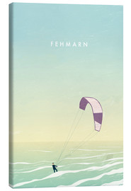Lienzo  Kitesurfer on Fehmarn illustration - Katinka Reinke