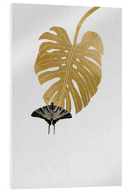 Metacrilato  Butterfly & Monstera - Orara Studio