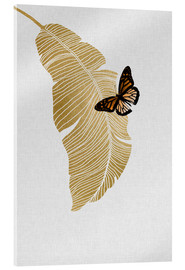 Metacrilato  Butterfly & Palm - Orara Studio