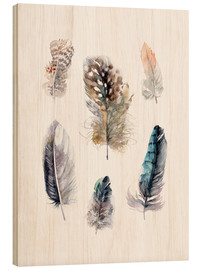 Cuadro de madera  Feathers collection - Verbrugge Watercolor
