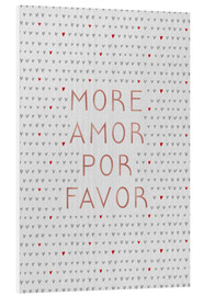 Cuadro de PVC  More Amor Por Favor Rose Gold - Orara Studio