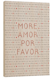 Cuadro de madera  More Amor Por Favor Rose Gold - Orara Studio