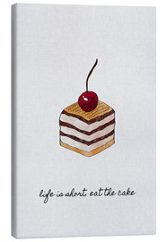 Lienzo  Life Is Short Eat The Cake - Orara Studio