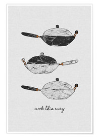 Póster Wok This Way