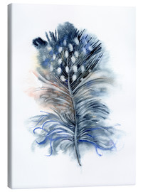 Lienzo  Feather blue - Verbrugge Watercolor