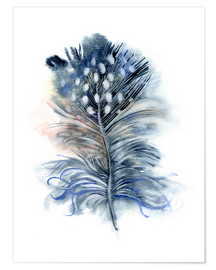 Póster Feather blue