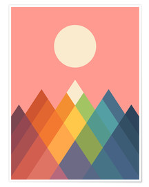 Póster  Rainbow Peak - Andy Westface