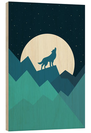 Cuadro de madera  Keep The Wild In You - Andy Westface