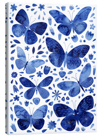 Lienzo  Mariposas China Azul - Nic Squirrell