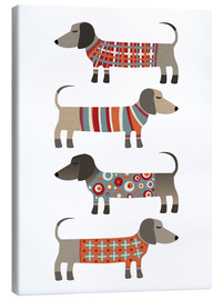 Lienzo  Sausage Dogs in Sweaters - Nic Squirrell