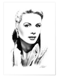 Póster Retrato de Grace Kelly