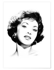 Póster Hollywood Diva - Gina Lollobrigida