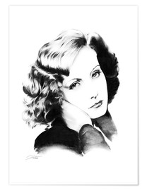 Póster Hollywood Diva - Greta Garbo
