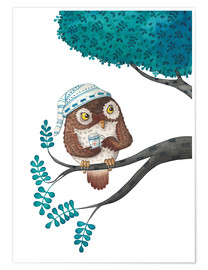 Póster  sleepless owl - Leonora Camusso