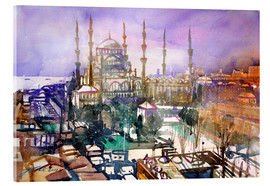 Metacrilato  Istanbul, view to the blue mosque - Johann Pickl