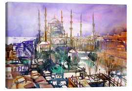 Lienzo  Istanbul, view to the blue mosque - Johann Pickl