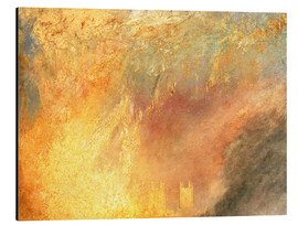 Cuadro de aluminio  Burning of the Houses - Joseph Mallord William Turner