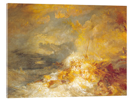 Cuadro de metacrilato  Fuego en el mar - Joseph Mallord William Turner