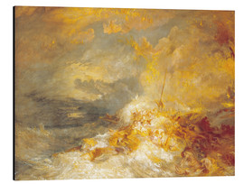 Cuadro de aluminio  Fuego en el mar - Joseph Mallord William Turner