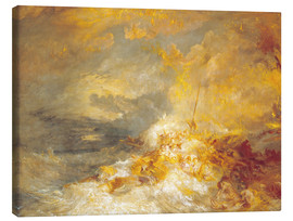 Lienzo  Fuego en el mar - Joseph Mallord William Turner