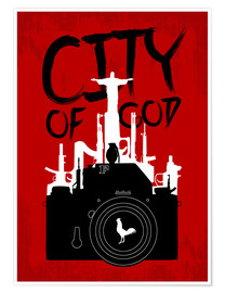 Póster City of God - Minimal Movie Fanart Alternative