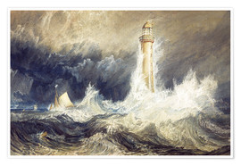 Póster  Faro de Bell Rock - Joseph Mallord William Turner