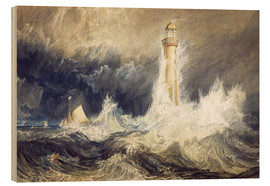 Cuadro de madera  Faro de Bell Rock - Joseph Mallord William Turner