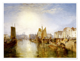 Póster  El puerto de Dieppe - Joseph Mallord William Turner