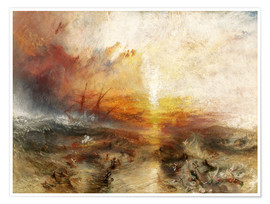 Póster  El barco de esclavos - Joseph Mallord William Turner