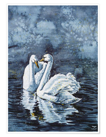 Póster Swan Couple