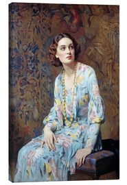 Lienzo  Retrato de una dama - Albert Henry Collings