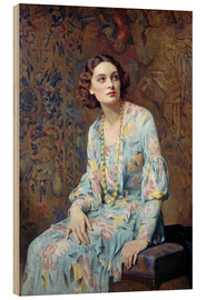 Madera  Retrato de una dama - Albert Henry Collings