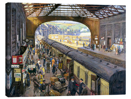 Lienzo  The Terminus, Penzance Station, Cornwall - Stanhope Alexander Forbes