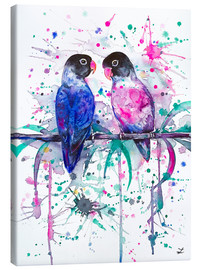 Lienzo  Love is in the air! Lovebirds - Zaira Dzhaubaeva