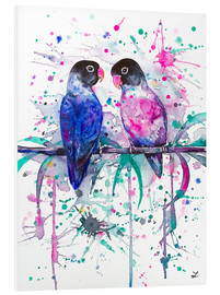 Cuadro de PVC  Love is in the air! Lovebirds - Zaira Dzhaubaeva