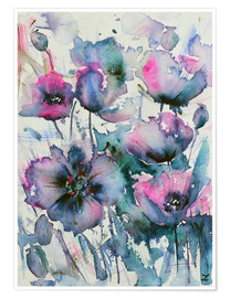 Póster Mauve Poppies