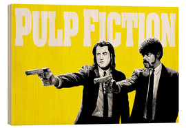 Cuadro de madera  Pulp Fiction Yellow BANG - Paola Morpheus