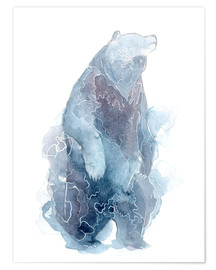 Póster Watercolor Standing Bear