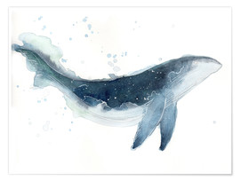 Póster Watercolor Whale