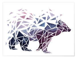 Póster Geometric Bear