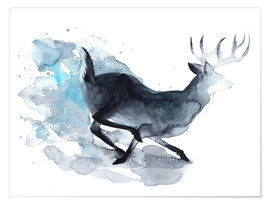 Póster Watercolor Deer