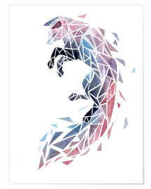 Póster Geometric Fox