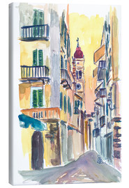 Lienzo  Marvellous Corfu Streets in Greece - M. Bleichner