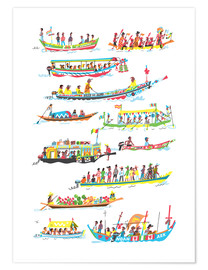 Póster Lots of Boats
